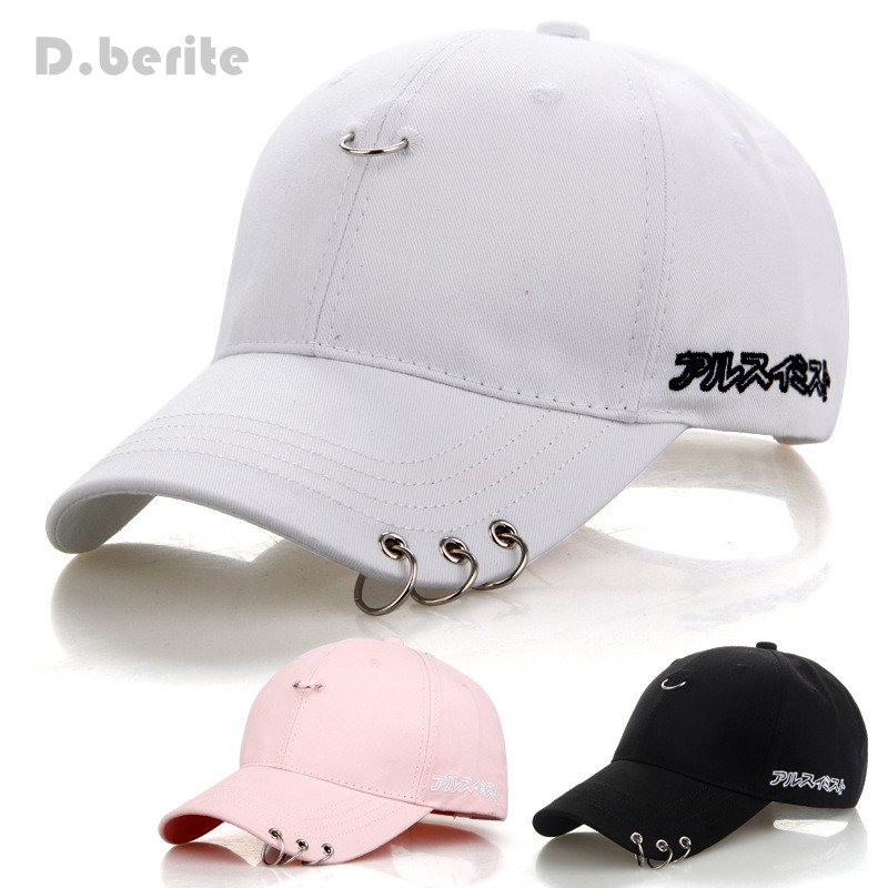 Mens Snapback Hats BTS Jimin Fashion Kpop Iron Ring Hats Adjustable   Baseball     Cap   GPD8216