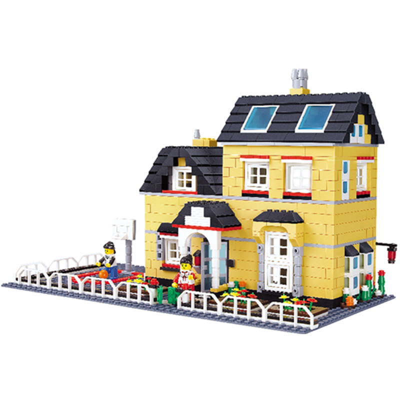 Model building kits compatible with logo Villa Series 3D blocks Educational model building toys hobbies for children