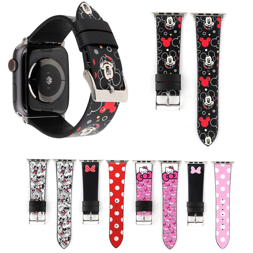 New Cartoon Mickey Watch Bands for Apple Watch 38mm 40mm 42mm 44mm Genuine Leather Woman Bracelet for Apple Watch Series 4 3 2 1New Cartoon Mickey Watch Bands for Apple Watch 38mm 40mm 42mm 44mm Genuine Leather Woman Bracelet for Apple Watch Series 4 3 2 1