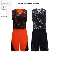 A+++ Basketball clothing suit free custom basketball uniform team training