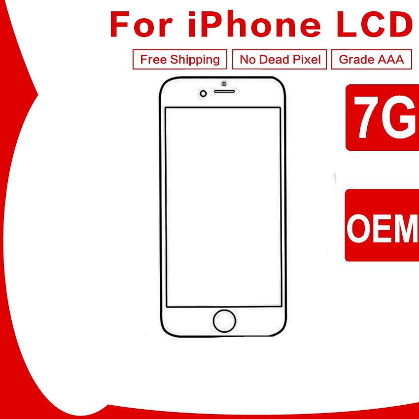 3 PCS OEM Qualité Pour iPhone 7 Assemblée LCD 4.7 pouce Écran Lentille De Remplacement Pantalla Noir Blanc Affichage Tactile Digitizer