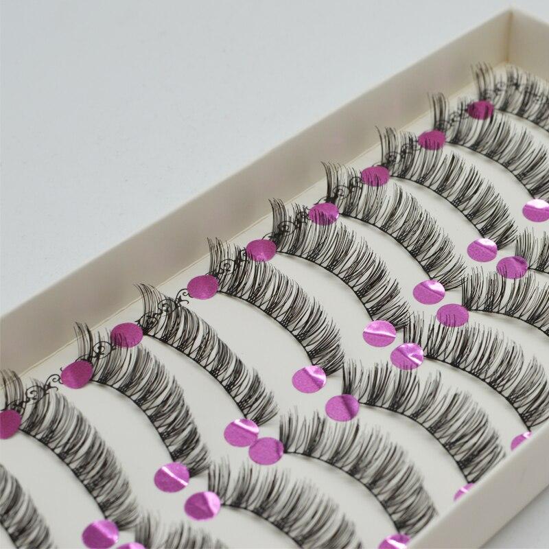 10Pcs Flowers Natural Long Grafted eyelash Soft False Eyelashes Individual Lashes Handmade Fake Eyelashes Extension C030