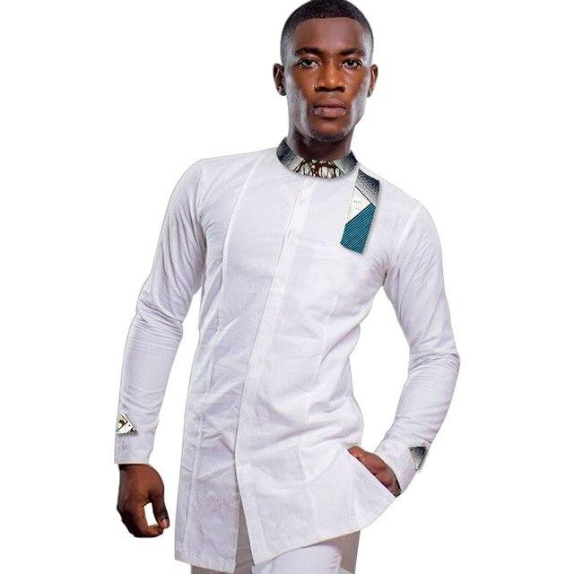 Ankara Men's Outfit, African Men's Shirt, Long Sleeve Shirt, African Men's Attire