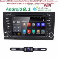 Free Camera1024*600 Quad Core 2din Android 8.1 car Auto Dvd player for Audi A4 (8E/8H) 2000 2012 S4 RS4 B6 B7 Seat Exeo GPS Navi