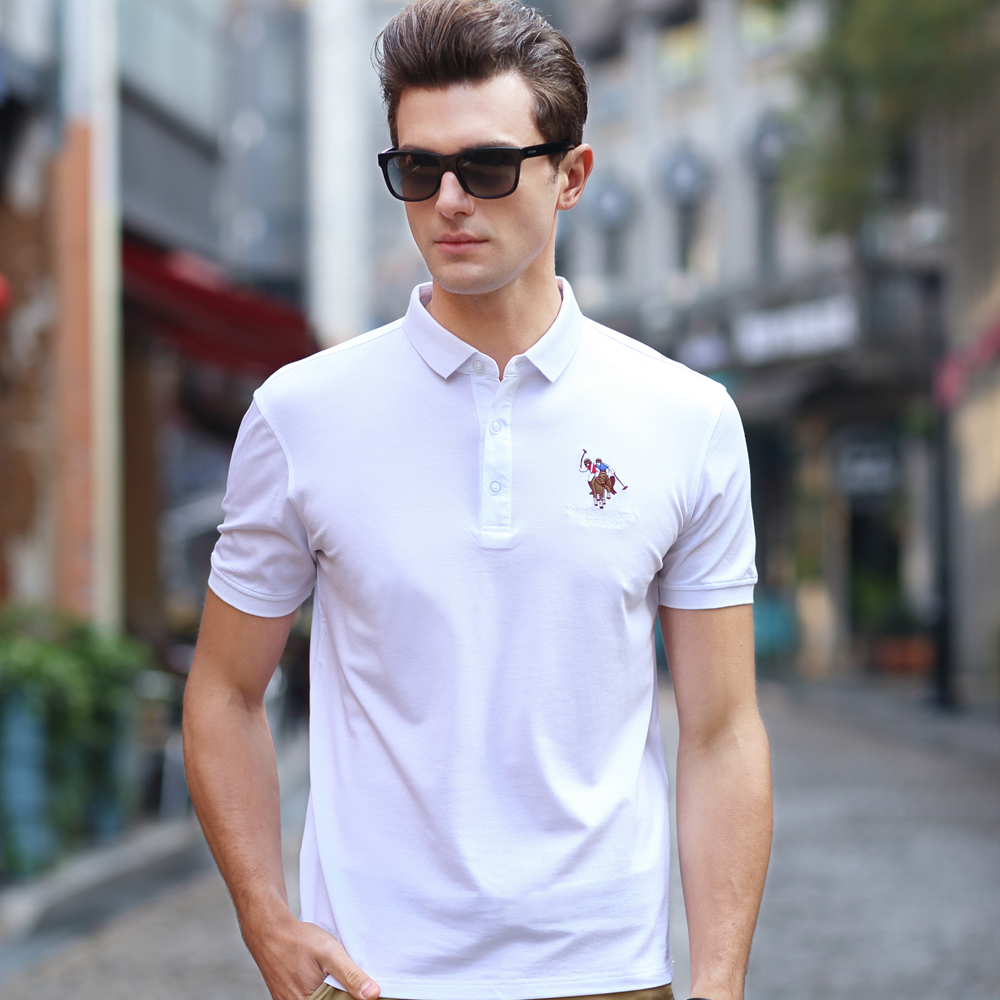 Summer Mens Clothes Business Casual Polo Shirt Men Youth High