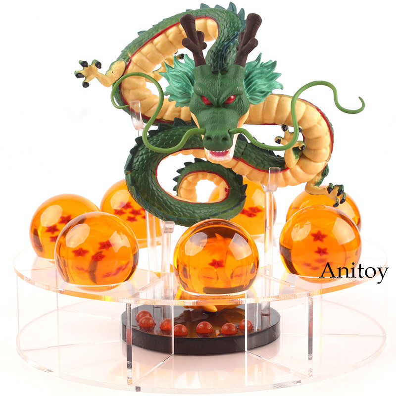 Dragon Ball Z Figurines Shenron + 7 boules de cristal 4 CM ensemble WCF MEGA MG01 PVC Dragon Ball Shenron figurine ShenLong jouet à collectionner