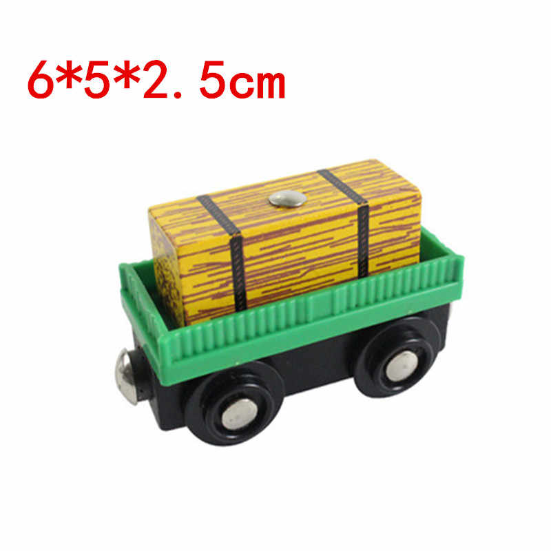EDWONE wooden magnetic train for Tmas wooden tracks can be connected to the Tmas train variety wooden train E10 forage car