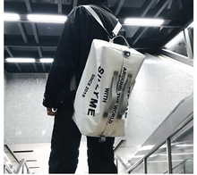 Hip Hop Style Street Trend Men Backpack Teenager Unisex Letter Cloth Bag High Capacity All-match Travel Couple Bags Mochila D174