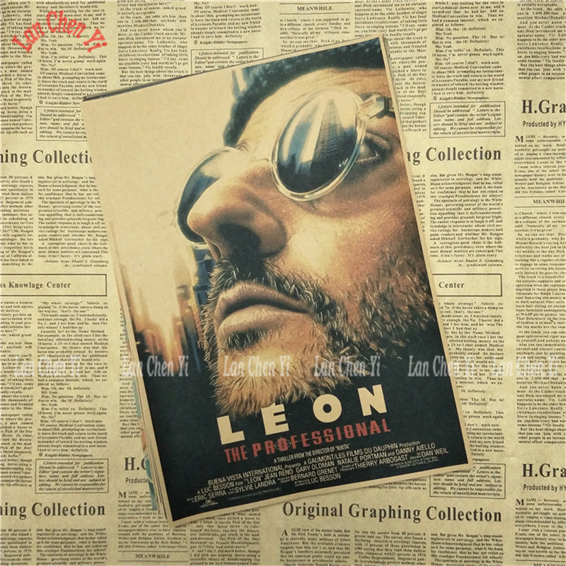 Art Poster Leon The Professional Classic Movie Jean Reno Actor Wall Silk N610