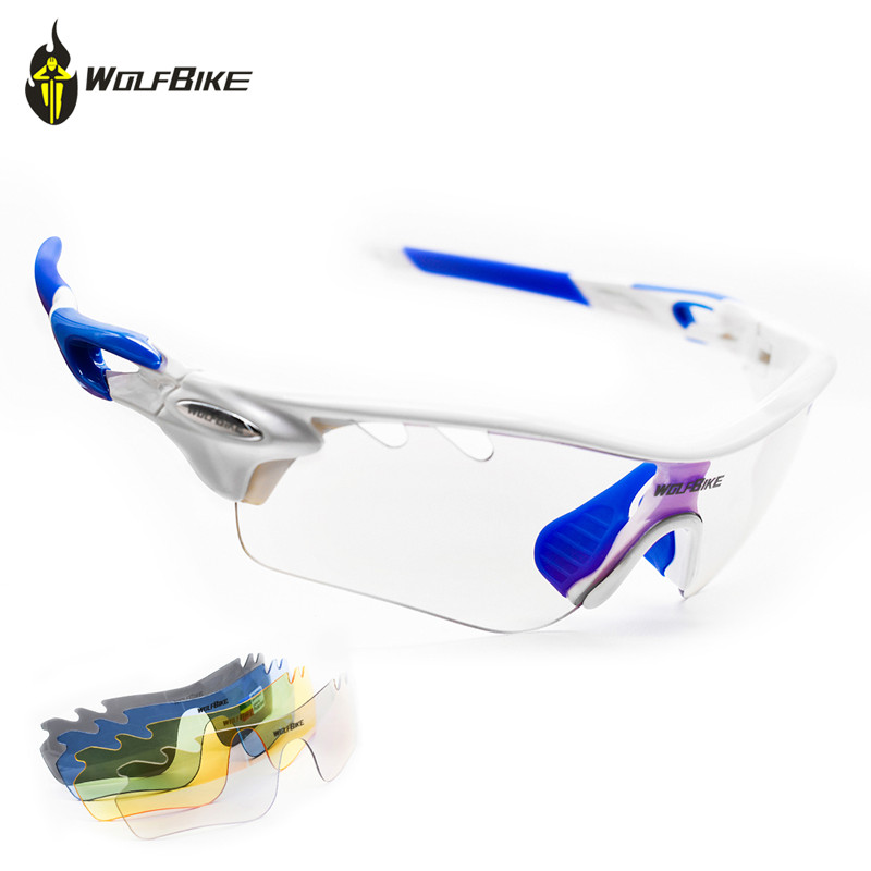 WOLFBIKE UV400 Polarized Cycling Sunglasses Outdoor Sports Bicycle Anti fog Eyewear For Men Women Lens Myopia Frame Bike Glasses in Cycling Eyewear from Sports Entertainment