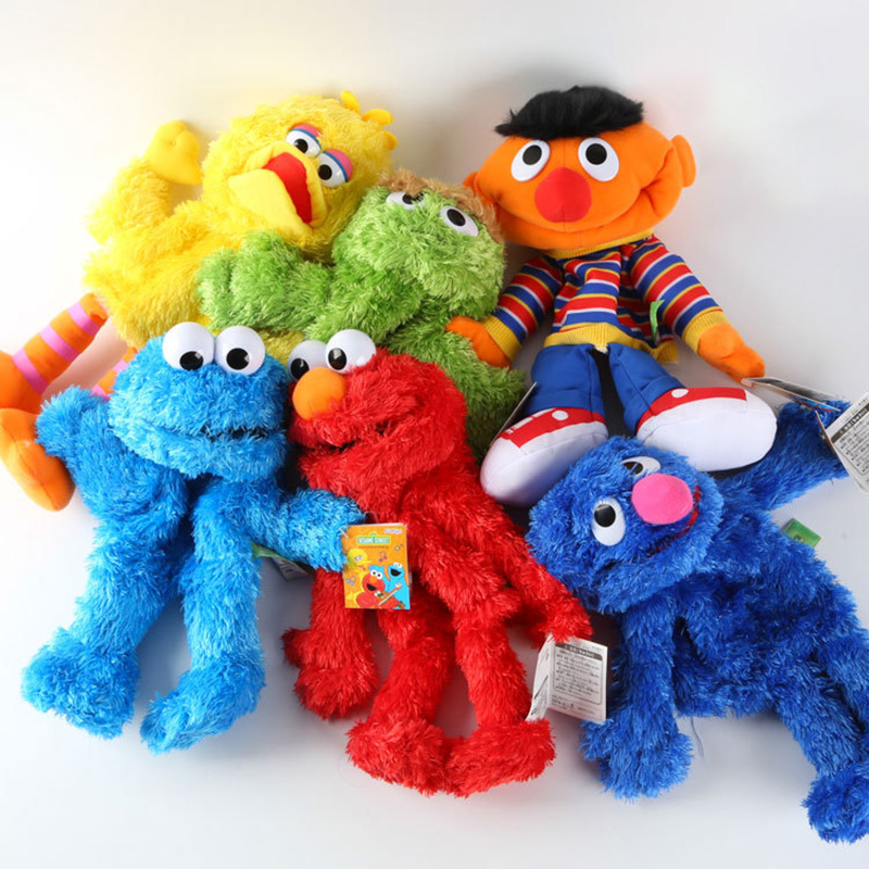 35CM Sesame Street Elmo Plush Hand Puppet Play Games Doll Toy Puppets New 2018