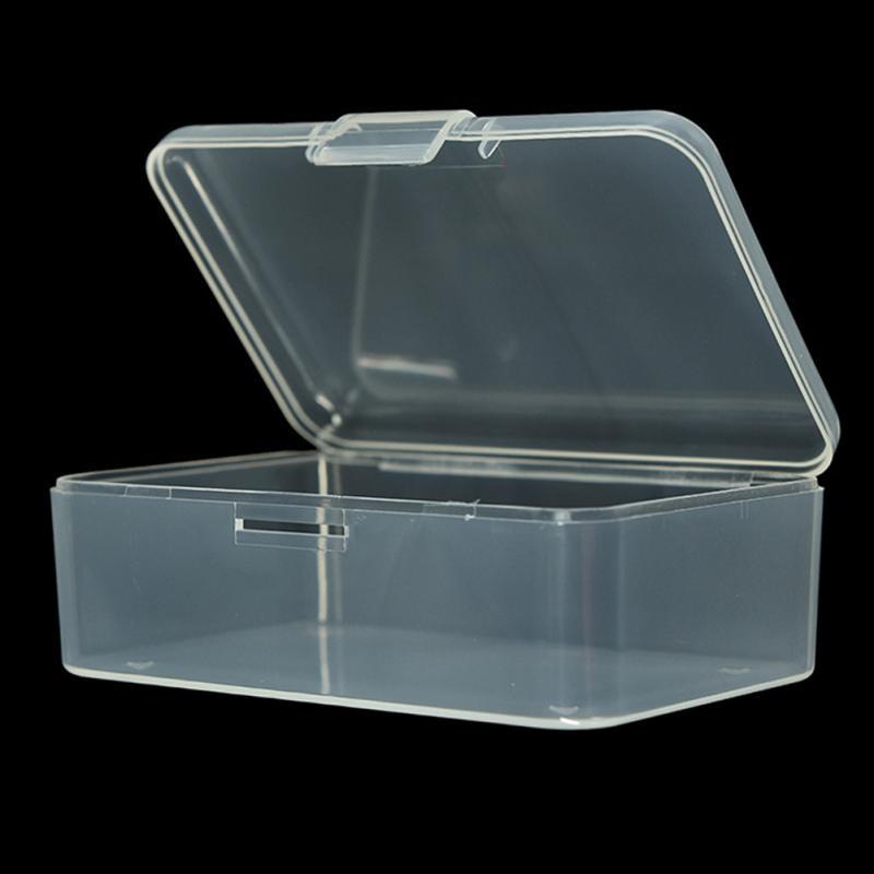 New Small Transparent Plastic Storage Box clear Square Multipurpose display Pop.
