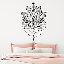 Lotus Wall sticker Boho vinyl wall decar Mandala decols Yoga studio Decals home room decal G49