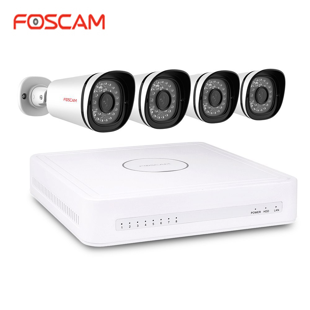 Foscam FN7108E-B4-2T 1080P PoE Security System 8-CH NVR and 4 Weatherproof Cameras Remote Viewing via APP 2TB Hard Drive запонка arcadio rossi запонки со смолой 2 b 1026 20 e