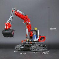 Lepin 20025 Technic Series the Red Engineering Excavator Set Building Blocks Bricks Educational Toys Boys Gift legoinglys 8294