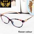Женская мода глаз glasse стиле ретро очки новые оптические frame марка дизайн очки для женщин леопарда головы очки Óculos
