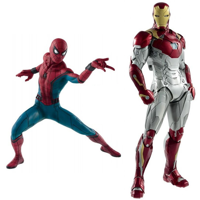 Marvel Avengers Spider-Man Homecoming Iron Man MK47 Action Figure SpiderMan Toys Brinquedos Anime 18-26.5CM машинки технопарк машина технопарк металлическая инерционная bentley continental