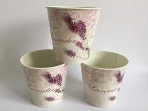 Image 3 - 6 Pz/lotto D10.5xH10CM Mini Vaso per la Decorazione di Cerimonia Nuziale Lavanda centro della tavola di Ferro vasi di fiori