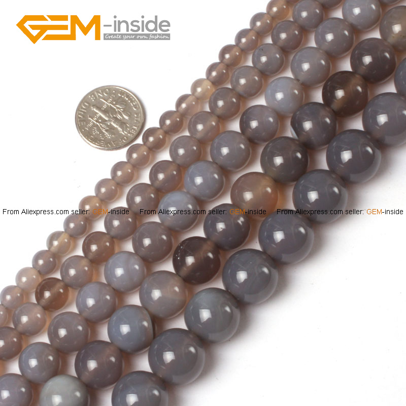 Gem inside natural tiny small spacer seed gray agates for Natural seeds for jewelry making