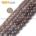 Natural Gray Agate Stone Beads For Jewelry Making 6-20mm 15inches DIY Jewellery Necklace FreeShipping Wholesale Gem-inside