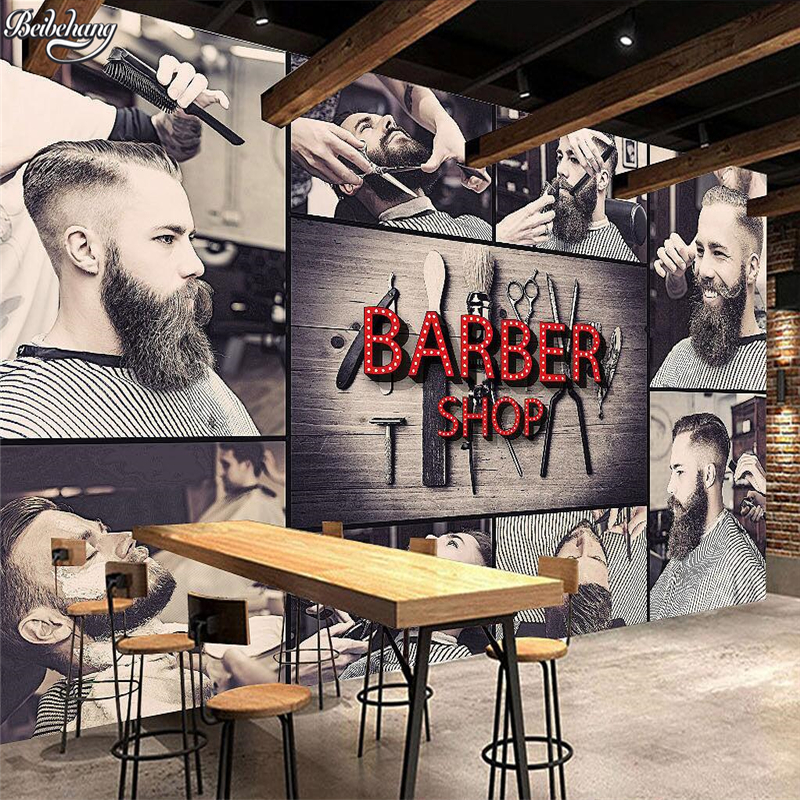 Beibehang Large Custom Wallpaper 3D Stereoscopic Modern Hairdressing Fashion Background Wall Decoration Painting