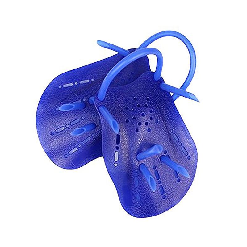 New Sale Pair Dark Blue Plastic Swimming Hand Paddles Webbed font b Gloves b font