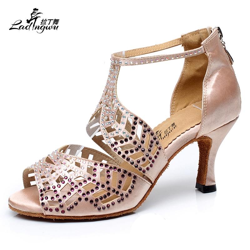 Jual hot sale womens latin dance shoes professional ballroom salsa shoes