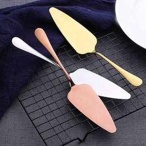 Image 3 - Kleurrijke Rvs Gekartelde Rand Cake Server Blade Cutter Pie Pizza Schop Taart Spatel Bakken Tool 1 Stuk