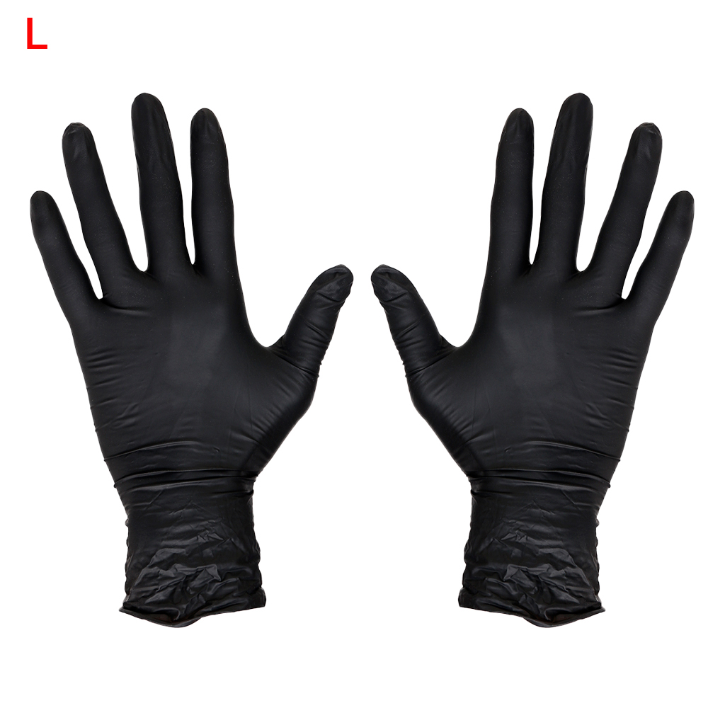 Black exam gloves - Top Quality Authorized Black Disposable Nitrile Tattoo Gloves Powder Free Ambidextrous Latex Free Exam Grade L