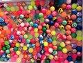 12 unids 25 mm surtidos alta rebote pelota de goma pequeña bola animosa piñata rellenos de juguete para niños