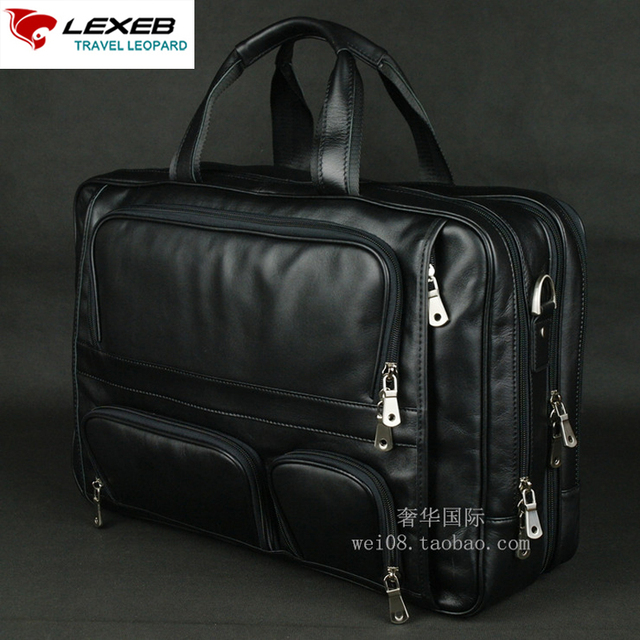 LEXEB Brand Men's Leather Briefcase 17