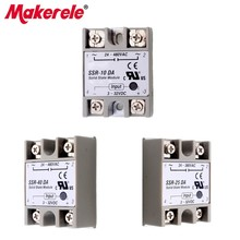 Solid State Relay SSR-10DA SSR-25DA SSR-40DA Relais Module Top Brand Makerele Actually 3-32V DC TO 24-380V AC SSR 10DA 25DA 40DA 2 channel ssr solid state relay high low trigger 5a 3 32v for arduino uno r3 new
