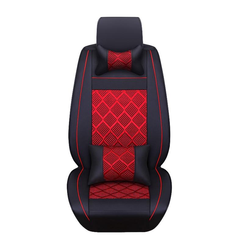 цена на 2018 New leather ice silk car seat cover universal for Toyota RAV4 PRADO Highlander COROLLA Camry Prius pu leather car styling