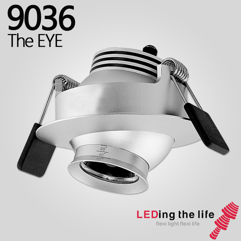 9036 The eye,LED focusable spotlight,Recessed lighting fixture,3  W,Zoomable,Silver,Warm white LED-in LED Spotlights from Lights & Lighting  on Aliexpress.com ...