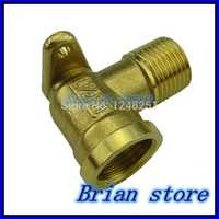 """1/2"""" Female -1/2"""" Male inch BSP Thread Dia 20mm With Mount Base Elbow Brass Fitting Coupler Connector Adapter 232psi +BMFL"""