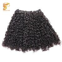 Продукты для волос AOSUN Fumi курчавые вьющиеся бразильские волосы remy переплетения пучок s 100% пучок человеческих волос расширение курчавые 3 шт