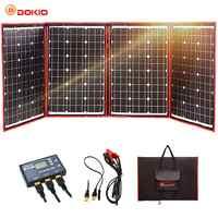 Dokio 200W (50W * 4) pannello solare 12V/18V Flessibile Foldble Pannello Solare usb Portatile Kit di Celle Solari Per Barche/Out porta di Campeggio