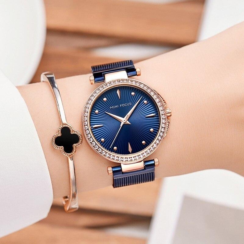 MINIFOCUS Women Watches Gold Waterproof Lady Watch For Woman Watches 2019 Brand Luxury Fashion Casual Ladies Quartz Wristwatch