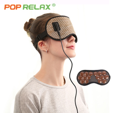 POP RELAX Korea tourmaline germanium thermal eye mask health electric heating therapy eye care traveling facial face sleep mask 2018 best selling products infrared heating mat tourmaline health products full body heat sleep mat with free gift eye cover
