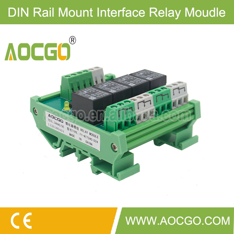 240 PCS 4 channel T73 AC DC 24V DIN Rail Mount Relay Module