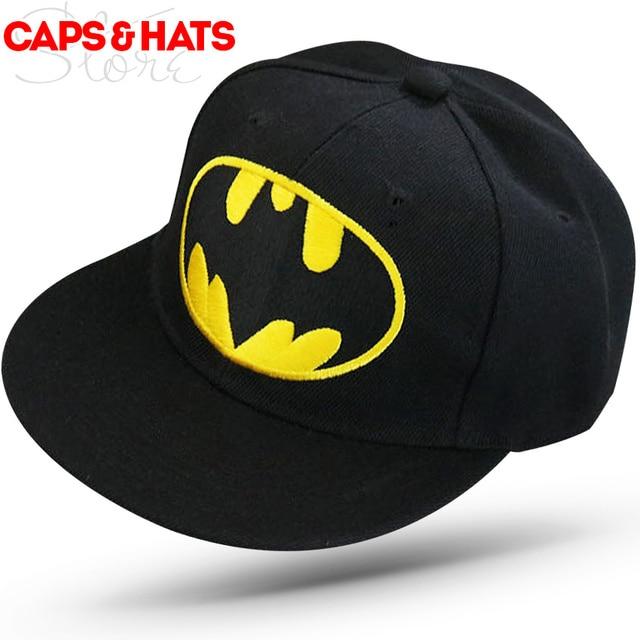 87e4971056 2018 Cartoon Batman Baseball Cap Hats For Kids Casual Camo Hip Hop Snapback  Caps Boys Girls 50 to 54cm F545
