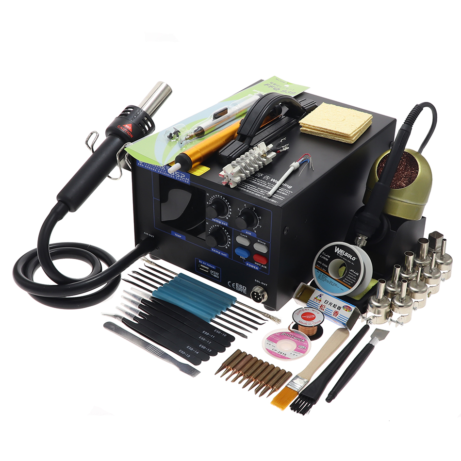GORDAK 952H soldering station anti static LED double display hot air high power heating body constant temperature control USB in Soldering Stations     - title=