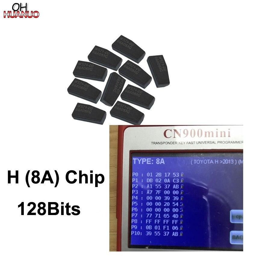 10PCS H 8A Chip 128 Bit Carbon Auto Transponder Chip Ceramic Car Chip Blank Key Chip