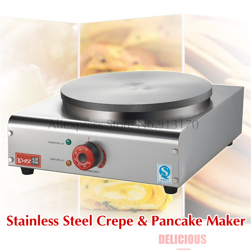 New Crepe Maker Superior Stainless Steel Electric Pancake Crepe Machine Masala Dosa Maker Nonstick Cook jiqi stainless steel electric crepe maker plate grill crepe grill machine page 4