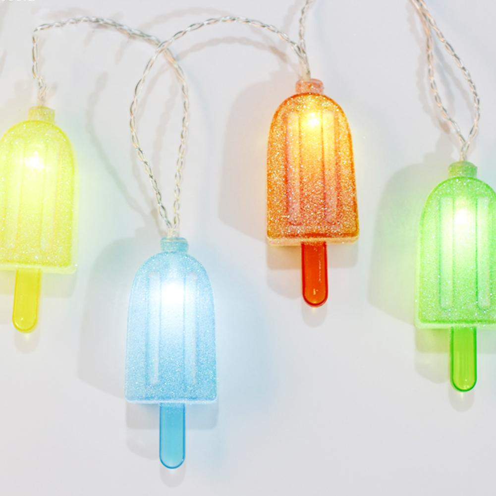 Ice cream ornaments - Ice Cream Led Lamp Battery Multicolor Led String Light Operated Home Party Decoration A4 China