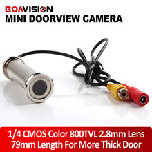 1/4″ 800TVL 2.8mm Lens 79mm Length Wired CCTV DOORVIEW Door Eye Hole Security Color Camera For More Thick Door
