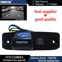 FUWAYDA-vista trasera para estacionar el coche, CCD a COLOR de marcha atrás de 170 grados/con cámara de línea de referencia para Hyundai ElantraTerracanTucson Accent