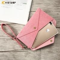 CASESHIP Universal Girly Handbag Wallet Case For IPhone Samsung Xiaomi Huawei 5 5 Inch Luxury Genuine