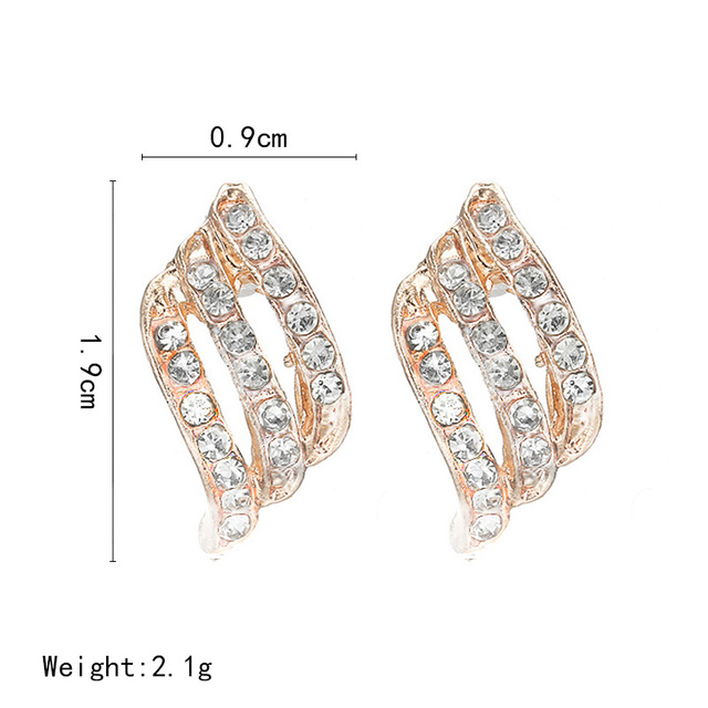 Korean Style Simple Crystal Stud Earrings  5
