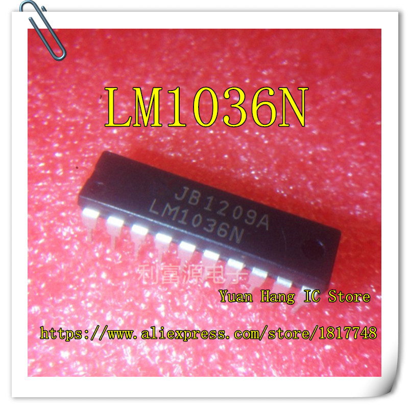 Free Shipping LM1036N LM1036 DIP-20 Two channel DC control volume, volume, balance circuit, new original free shipping 6 way m62446 5 1 channel volume remote control preamplifier kit for dc motor use